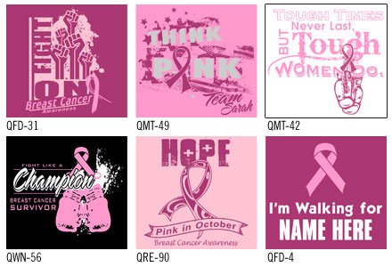 breast cancer awareness t-shirt designs