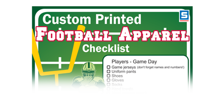 football apparel infographic checklist