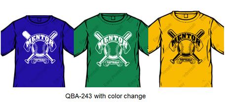 baseball shirt with color change