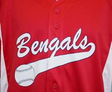 baseball split front jersey