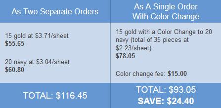 color change advantage
