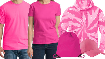 blank pink apparel