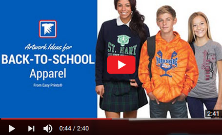 custom school apparel video