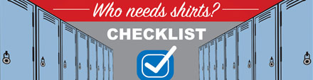 school apparel infographic checklist