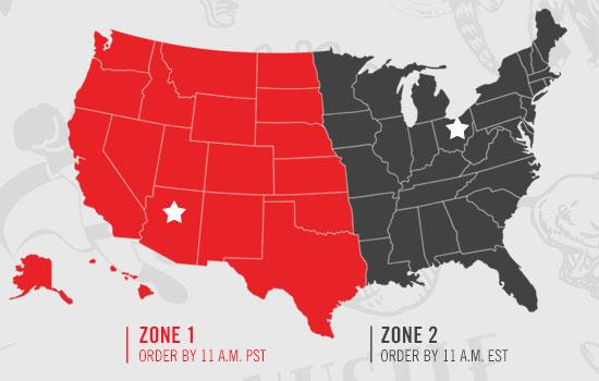Ordering zones
