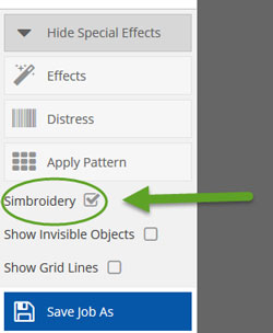 adding Simbroidery in Easy View